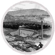 Colorado: Durango, 1883 Round Beach Towel