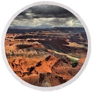 Colorado In The Canyons Round Beach Towel