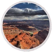 Colorado In The Distance Round Beach Towel