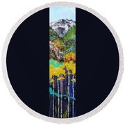 Colorado Layers Round Beach Towel