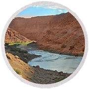 Colorado River Canyon 1 Round Beach Towel