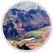 Colorado River IIi Round Beach Towel