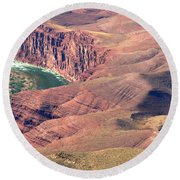 Colorado River Iv Round Beach Towel