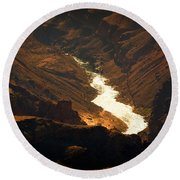 Colorado River Rapids Round Beach Towel