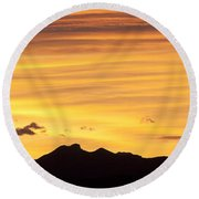 Colorado Sunrise Landscape Round Beach Towel