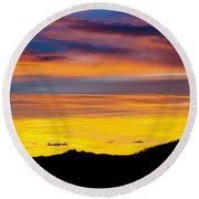 Colorado Sunrise -vertical Round Beach Towel