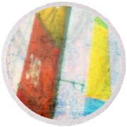 Colored Sailing Round Beach Towel