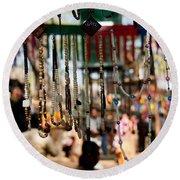 Colorful Beads At The Surajkund Mela Round Beach Towel