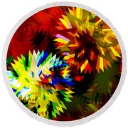 Colorful Blade Round Beach Towel