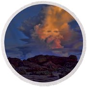 Colorful Cloud Round Beach Towel