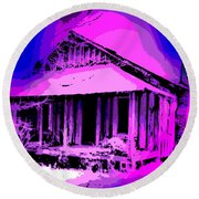 Colorful Cracker House Round Beach Towel