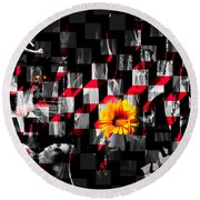 Colorful Cubed Beauty Round Beach Towel
