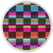 Colorful Cubes Round Beach Towel