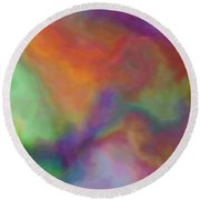Colorful Dreams Abstract Round Beach Towel