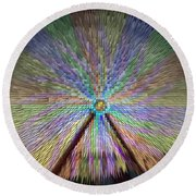 Colorful Fair Wheel Round Beach Towel