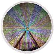 Colorful Fair Wheel Round Beach Towel