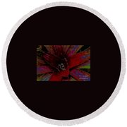 colorful Frond Round Beach Towel