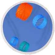 Colorful Kites Round Beach Towel