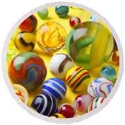 Colorful Marbles Two Round Beach Towel