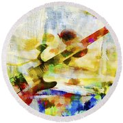 Colorful Music Round Beach Towel