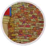 Colorful Stacked Stone Round Beach Towel