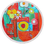 Colorful Summer  Round Beach Towel