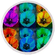 Colorful Tulip Collage Round Beach Towel by James BO  Insogna