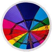 Colorful Umbrella Round Beach Towel
