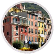Colorful Vernazza Round Beach Towel