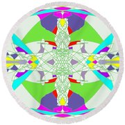 Colorization Round Beach Towel
