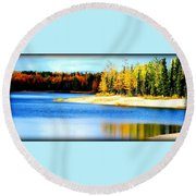 Colors At Chena Round Beach Towel