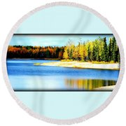 Colors At Chena Ll Round Beach Towel