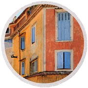 Colors In Provence Round Beach Towel