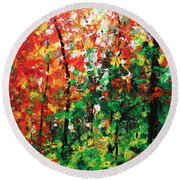 Colors Of October Round Beach Towel