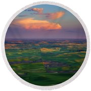 Colors Of The Palouse Round Beach Towel