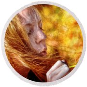 Colors Of The Wind Round Beach Towel