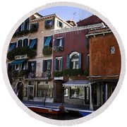 Colors Of Venice Round Beach Towel