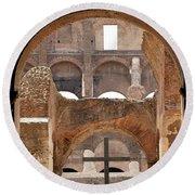 Colosseum 2 Round Beach Towel