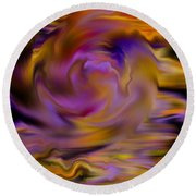 Colourful Swirl Round Beach Towel