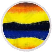 Colours Of Sky Round Beach Towel