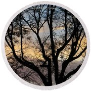 Colours Of The Dusk Round Beach Towel