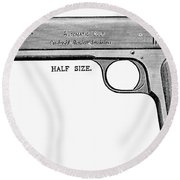 Colt Automatic Pistol Round Beach Towel