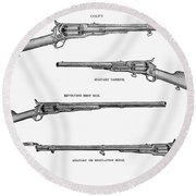 Colt Weapons, 1867 Round Beach Towel