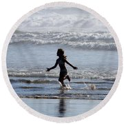 Come As A Child Round Beach Towel