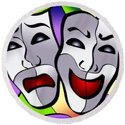 Comedy And Tragedy Round Beach Towel