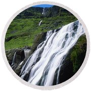 Comeragh Mountains, County Waterford Round Beach Towel