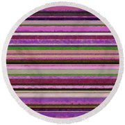 Comfortable Stripes Lll Round Beach Towel