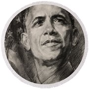 Commander-in-chief Round Beach Towel by Ylli Haruni