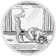 Commedia Dellarte Round Beach Towel