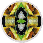 Compassion - Card X From The Tarot Of Flowers Round Beach Towel